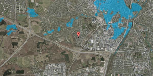 Oversvømmelsesrisiko fra vandløb på Bjergbakkevej 166, 2600 Glostrup