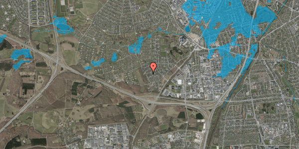 Oversvømmelsesrisiko fra vandløb på Bjergbakkevej 170, 2600 Glostrup