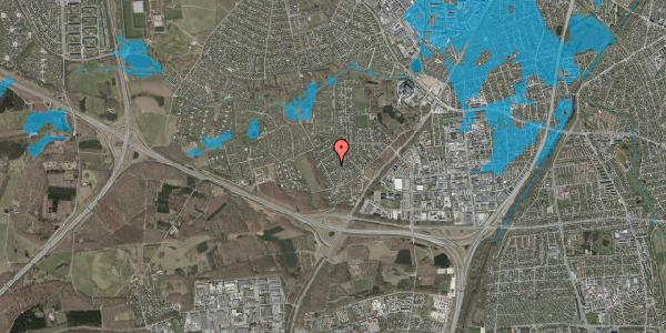 Oversvømmelsesrisiko fra vandløb på Bjergbakkevej 174, 2600 Glostrup