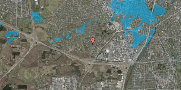Oversvømmelsesrisiko fra vandløb på Bjergbakkevej 182, 2600 Glostrup