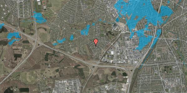 Oversvømmelsesrisiko fra vandløb på Bjergbakkevej 188, 2600 Glostrup