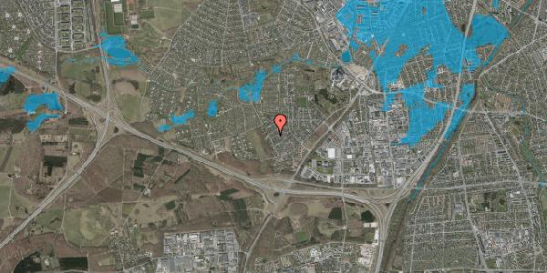 Oversvømmelsesrisiko fra vandløb på Bjergbakkevej 192, 2600 Glostrup