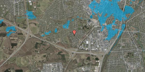 Oversvømmelsesrisiko fra vandløb på Bjergbakkevej 218, 2600 Glostrup