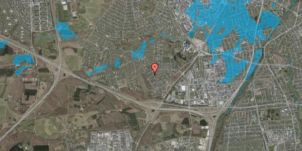 Oversvømmelsesrisiko fra vandløb på Bjergbakkevej 222, 2600 Glostrup
