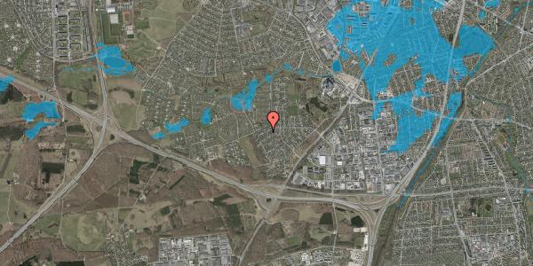 Oversvømmelsesrisiko fra vandløb på Bjergbakkevej 242, 2600 Glostrup