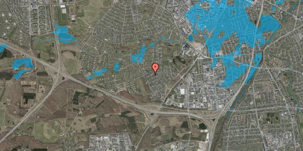 Oversvømmelsesrisiko fra vandløb på Bjergbakkevej 244, 2600 Glostrup