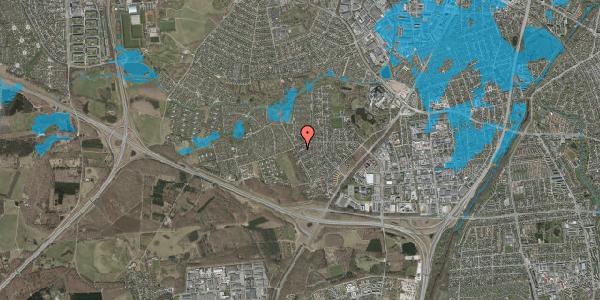 Oversvømmelsesrisiko fra vandløb på Bjergbakkevej 264, 2600 Glostrup