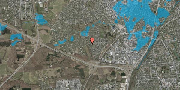 Oversvømmelsesrisiko fra vandløb på Bjergbakkevej 266, 2600 Glostrup