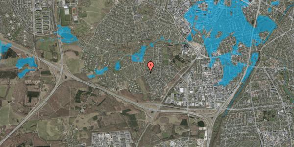 Oversvømmelsesrisiko fra vandløb på Bjergbakkevej 272, 2600 Glostrup
