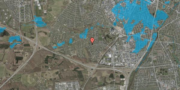 Oversvømmelsesrisiko fra vandløb på Bjergbakkevej 278, 2600 Glostrup