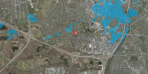 Oversvømmelsesrisiko fra vandløb på Bjergbakkevej 280, 2600 Glostrup