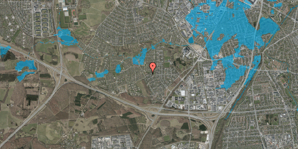 Oversvømmelsesrisiko fra vandløb på Bjergbakkevej 298, 2600 Glostrup