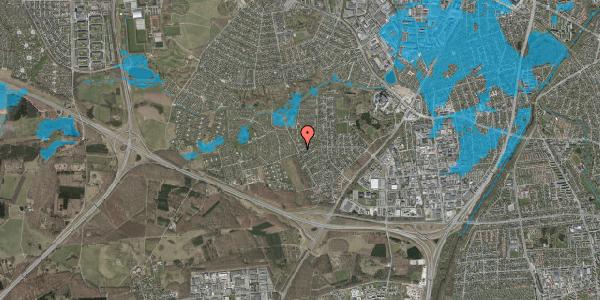 Oversvømmelsesrisiko fra vandløb på Bjergbakkevej 308, 2600 Glostrup
