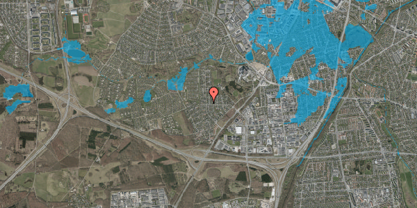 Oversvømmelsesrisiko fra vandløb på Brandsbjergvej 1, 2600 Glostrup