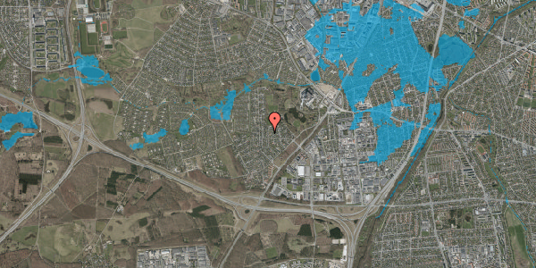Oversvømmelsesrisiko fra vandløb på Brandsbjergvej 39, 2600 Glostrup