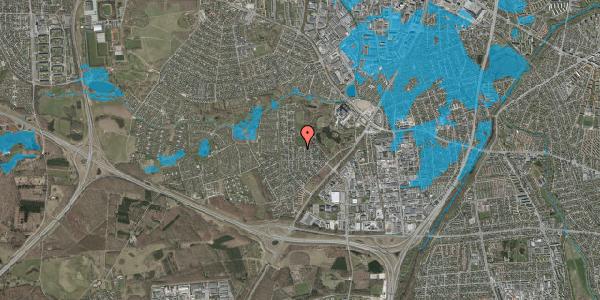 Oversvømmelsesrisiko fra vandløb på Brandsbjergvej 53, 2600 Glostrup