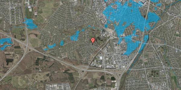 Oversvømmelsesrisiko fra vandløb på Brandsbjergvej 57, 2600 Glostrup