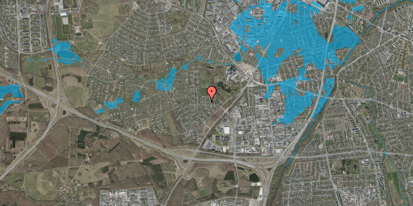 Oversvømmelsesrisiko fra vandløb på Brandsbjergvej 87, 2600 Glostrup