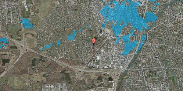 Oversvømmelsesrisiko fra vandløb på Brandsbjergvej 121, 2600 Glostrup