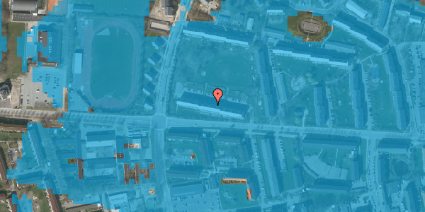 Oversvømmelsesrisiko fra vandløb på Brinken 9, st. th, 2600 Glostrup