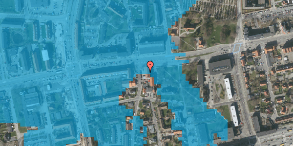 Oversvømmelsesrisiko fra vandløb på Bryggergårdsvej 1B, 1. 3, 2600 Glostrup