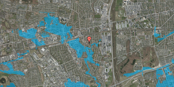 Oversvømmelsesrisiko fra vandløb på Brøndbyvestervej 29, st. th, 2600 Glostrup