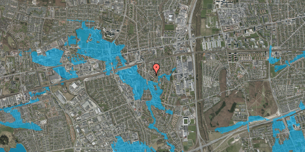 Oversvømmelsesrisiko fra vandløb på Brøndbyvestervej 31, st. tv, 2600 Glostrup