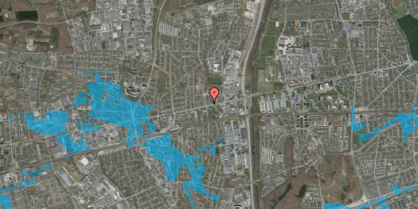 Oversvømmelsesrisiko fra vandløb på Byparkvej 2, st. tv, 2600 Glostrup