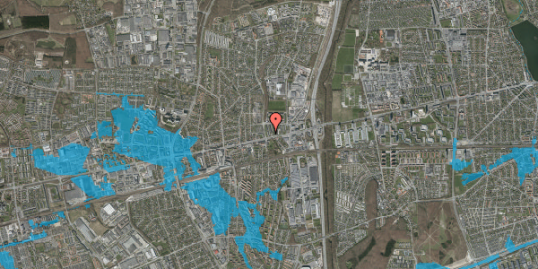 Oversvømmelsesrisiko fra vandløb på Byparkvej 6, 2. mf, 2600 Glostrup