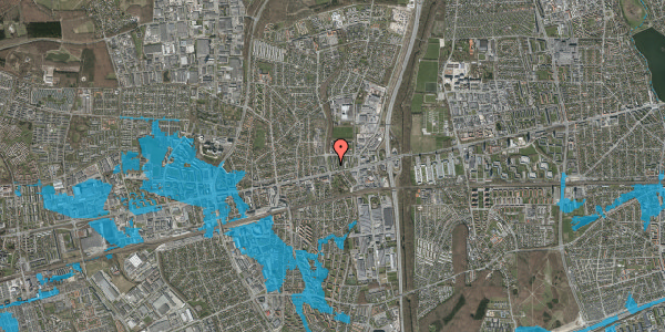 Oversvømmelsesrisiko fra vandløb på Byparkvej 10, 1. mf, 2600 Glostrup