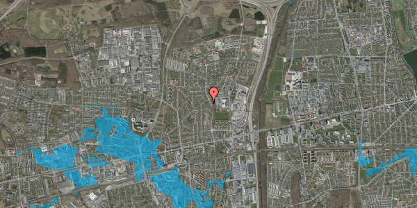 Oversvømmelsesrisiko fra vandløb på Byparkvej 87, 1. 229, 2600 Glostrup