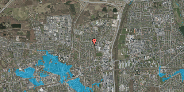 Oversvømmelsesrisiko fra vandløb på Byparkvej 95, 2600 Glostrup