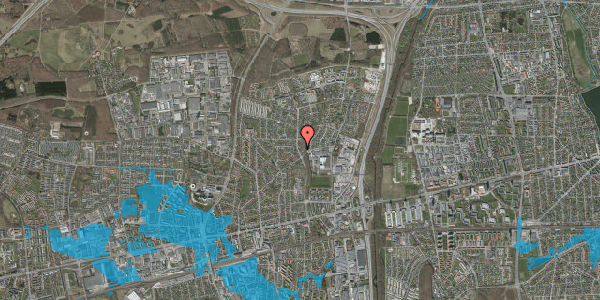 Oversvømmelsesrisiko fra vandløb på Byparkvej 100, 2600 Glostrup