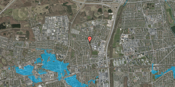 Oversvømmelsesrisiko fra vandløb på Byparkvej 101, 2600 Glostrup