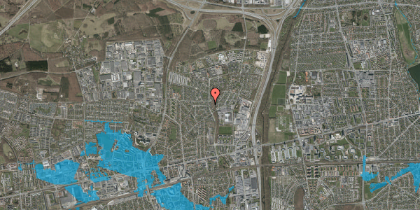 Oversvømmelsesrisiko fra vandløb på Byparkvej 106, 2600 Glostrup
