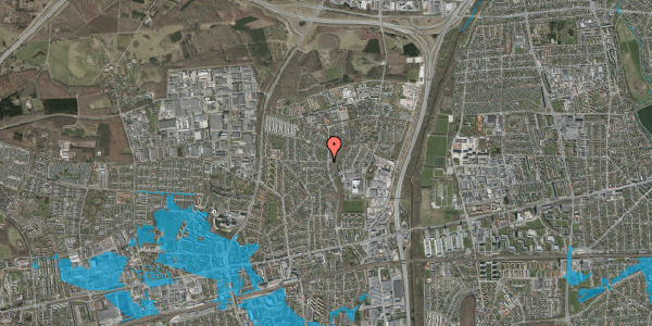 Oversvømmelsesrisiko fra vandløb på Byparkvej 111, 2600 Glostrup