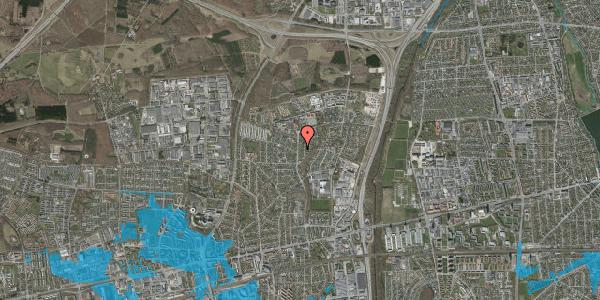 Oversvømmelsesrisiko fra vandløb på Byparkvej 128, 2600 Glostrup