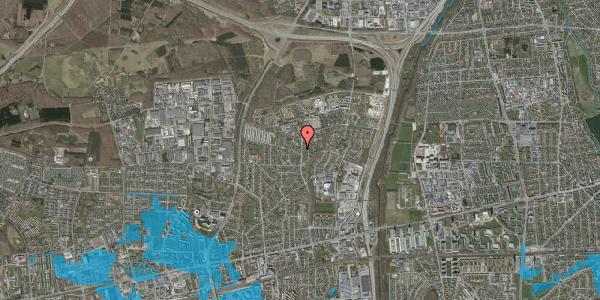 Oversvømmelsesrisiko fra vandløb på Byparkvej 129, 2600 Glostrup