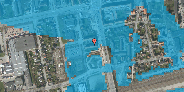 Oversvømmelsesrisiko fra vandløb på Christiansvej 19, st. tv, 2600 Glostrup