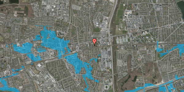 Oversvømmelsesrisiko fra vandløb på Clarasvej 9, 2600 Glostrup