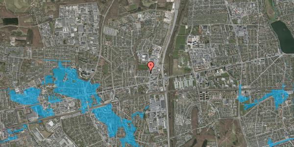 Oversvømmelsesrisiko fra vandløb på Dalvangsvej 10, 2. tv, 2600 Glostrup