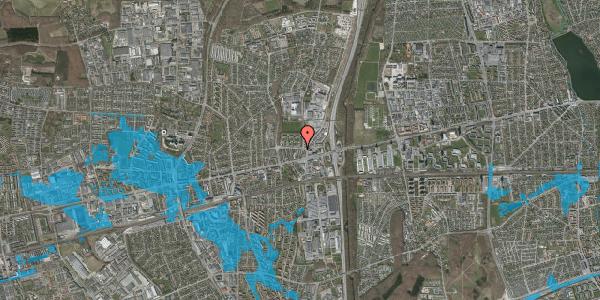 Oversvømmelsesrisiko fra vandløb på Dalvangsvej 13, st. 12, 2600 Glostrup