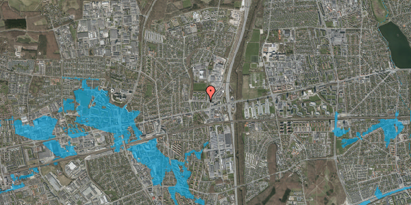 Oversvømmelsesrisiko fra vandløb på Dalvangsvej 13, st. 15, 2600 Glostrup