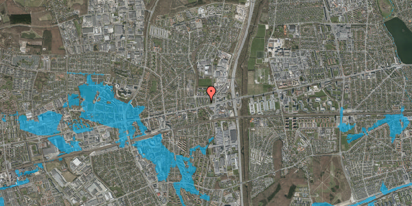 Oversvømmelsesrisiko fra vandløb på Dalvangsvej 19, 1. th, 2600 Glostrup