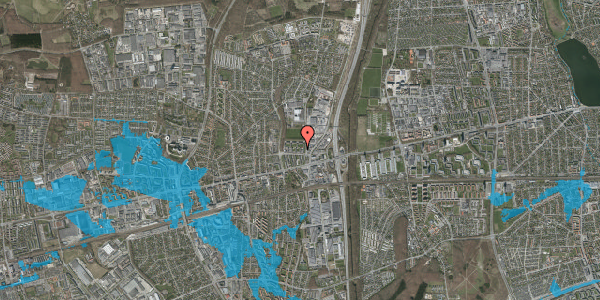 Oversvømmelsesrisiko fra vandløb på Dalvangsvej 22, 2. th, 2600 Glostrup