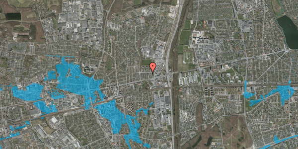 Oversvømmelsesrisiko fra vandløb på Dalvangsvej 27, 1. tv, 2600 Glostrup