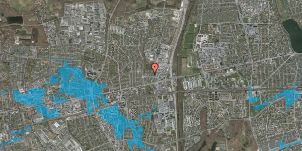 Oversvømmelsesrisiko fra vandløb på Dalvangsvej 28, st. tv, 2600 Glostrup
