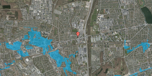 Oversvømmelsesrisiko fra vandløb på Dalvangsvej 35, st. tv, 2600 Glostrup