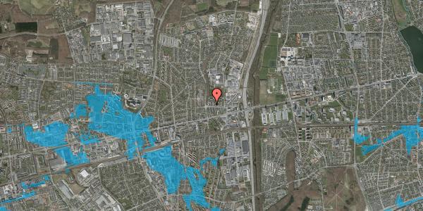 Oversvømmelsesrisiko fra vandløb på Dalvangsvej 42, st. 2, 2600 Glostrup