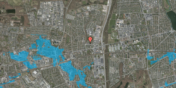 Oversvømmelsesrisiko fra vandløb på Dalvangsvej 42, 2. 9, 2600 Glostrup